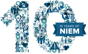 Celebrating NIEM's 10th Birthday icon