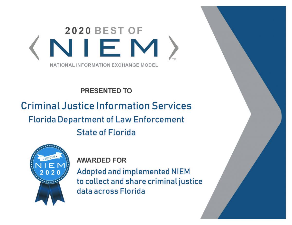 Criminal Justice Information Services Division 	Department of Law Enforcement 	State of Florida